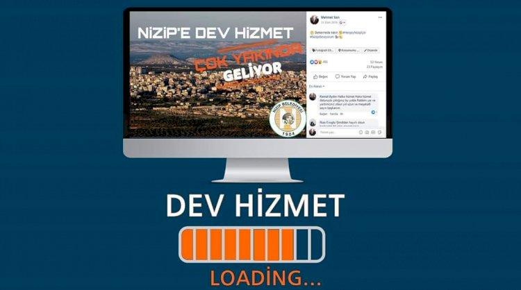 Nizip'e dev hizmet çok yakında geliyor.