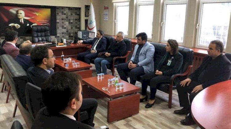 Milletvekili Şahin'den Sağlık Müdürü Sarıfakı'dan Hastaneye Ziyaret