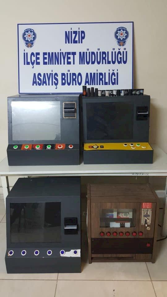 4 Adet Elektronik Kumar Makinası Ele Geçirildi