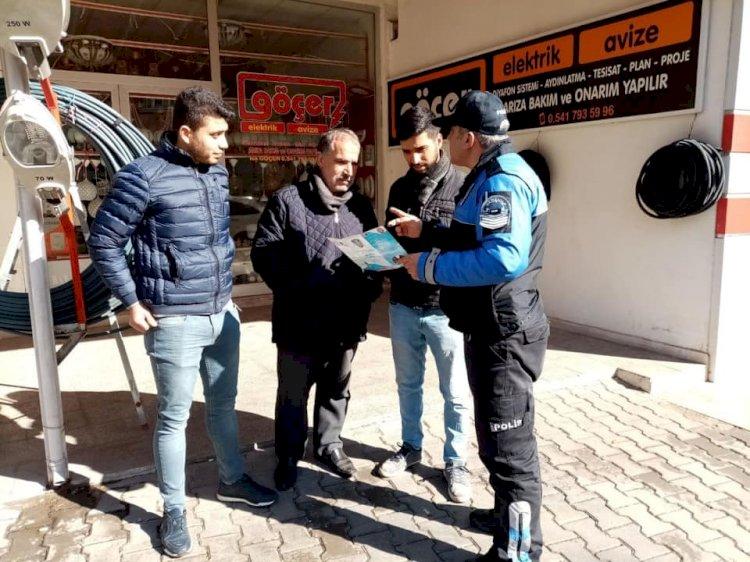 Nizip'te hırsızlığa broşür