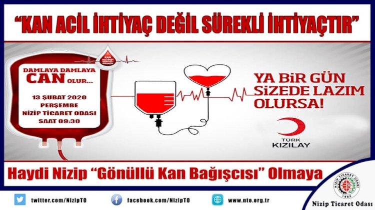NTO'da Kan Bağışı Kampanyası Düzenlenecek