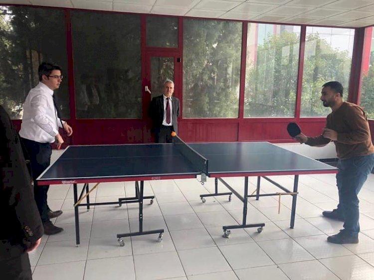 Hastanede Masa Tenisi Turnuvası