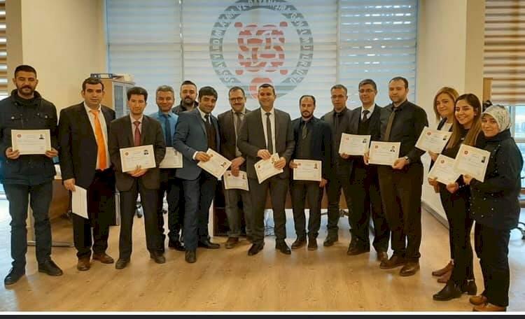 Nizip SYDV Personeline Başarı Belgesi Verildi