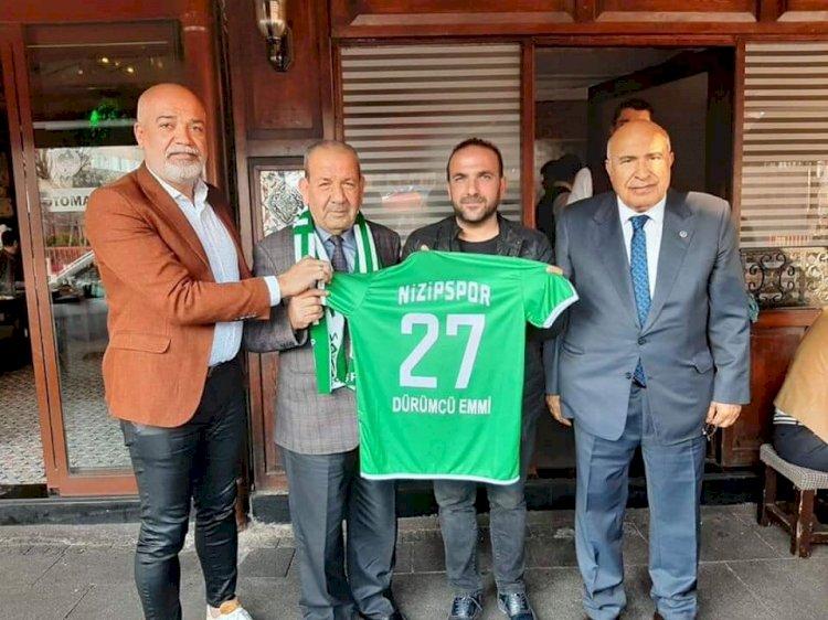 Nizipspor'dan Dürümcü Emmi Mehmet Cankesen'e Teşekkür Ziyareti