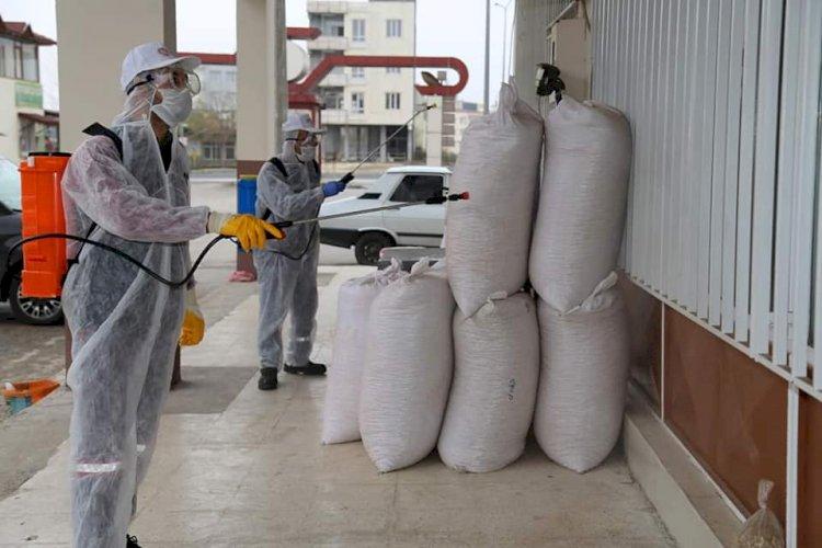 Nizip Belediyesi, fıstık hali ve otogarı dezenfekte etti