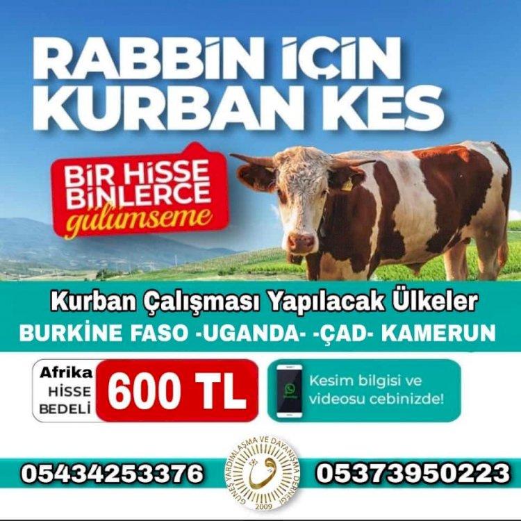 """GÜNEŞ DER'DEN """"NİYETİMİZ KURBAN OLSUN"""" KAMPANYASI"""