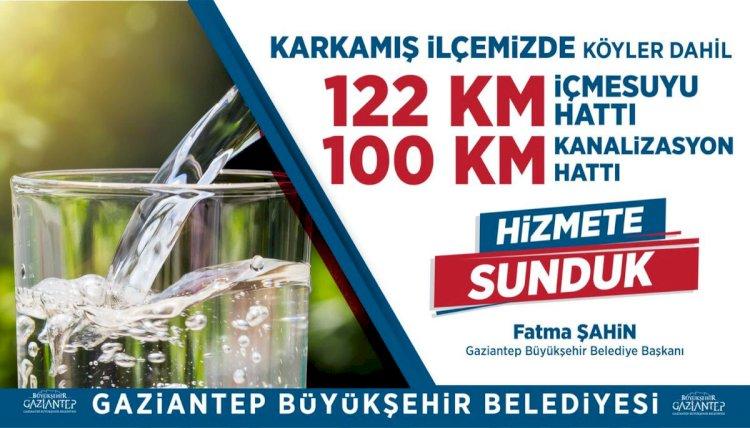 Karkamış'a 222 km içme suyu ve kanalizasyon hattı