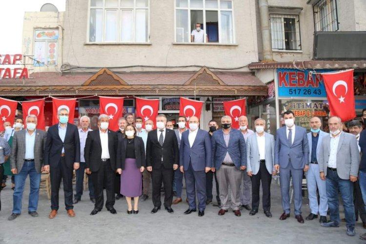 Fatma Şahin ve beraberindeki heyet MHP Teşkilatını Ziyaret Etti