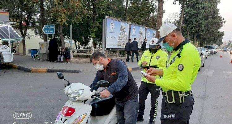 Kask takmayan motosiklet sürücülerine ceza yağdı