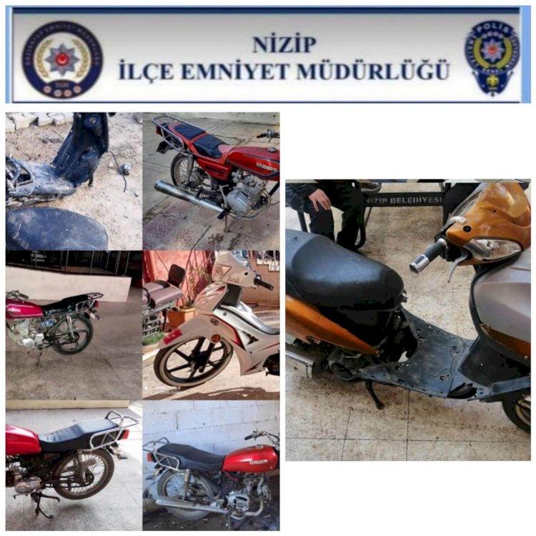 Nizip'te 8 kişide uyuşturucu madde 7 çalıntı motosiklet ele geçirildi