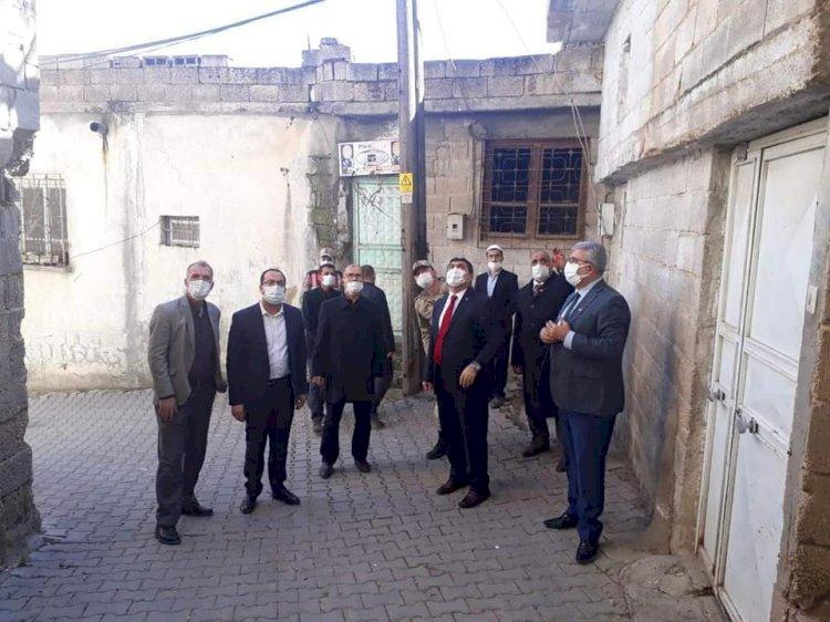 Kaymakam Şahin, yeniyazı mahallesinde incelemelerde bulundu