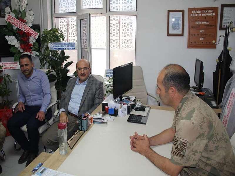 Başkan Sarı dan İlçe Jandarma Komutanına Ziyaret
