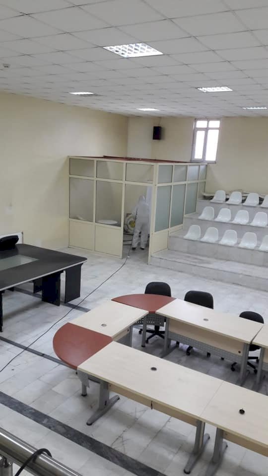 NİZİP TİCARET BORSASI DEZENFEKTE EDİLDİ
