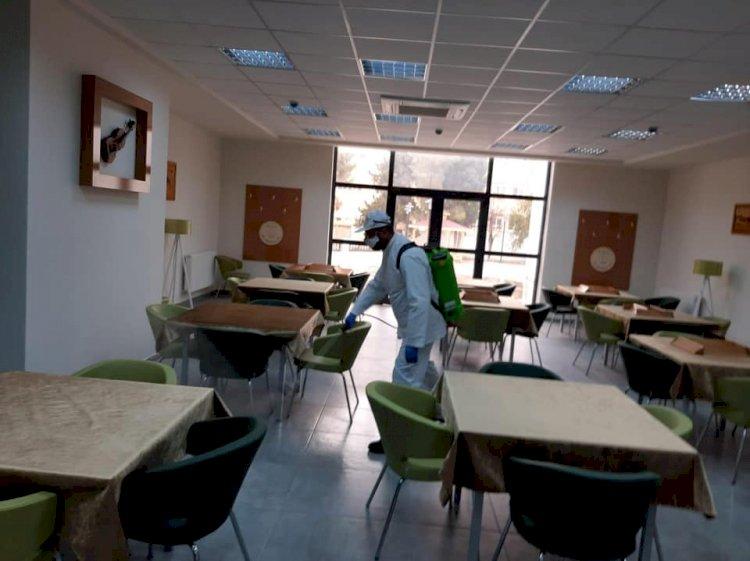 Nizip Öğretmen Evine Corona Virüs Önlemi