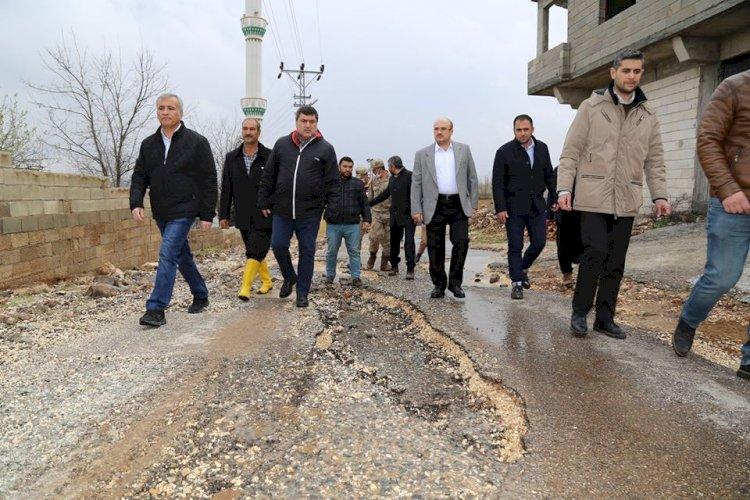 Kaymakam ve Belediye Başkanı sel bölgesinde incelemelerde bulundu