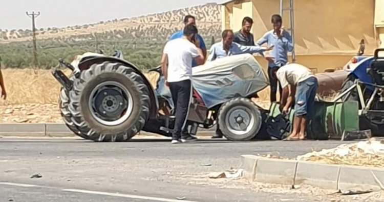Nizip'te maddi hasarlı kaza