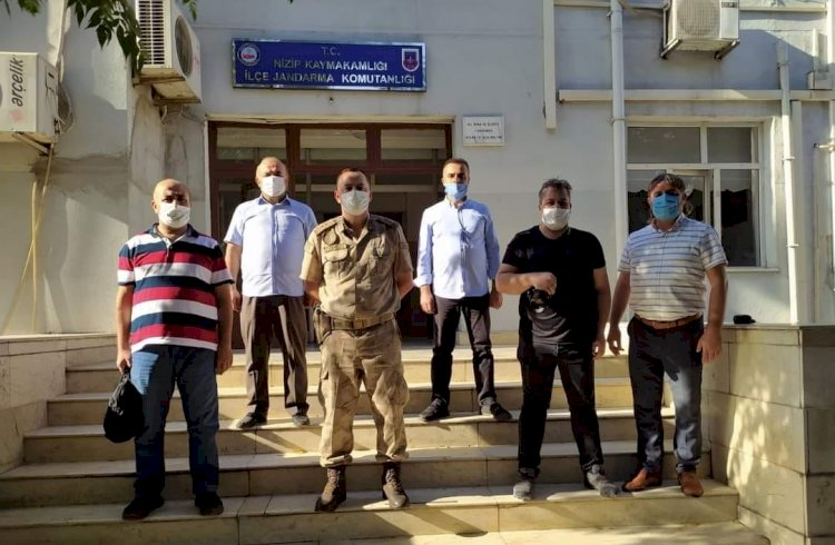 Nizip Gazeteciler Derneği'nden İlçe Jandarma Komutanlığına ziyaret