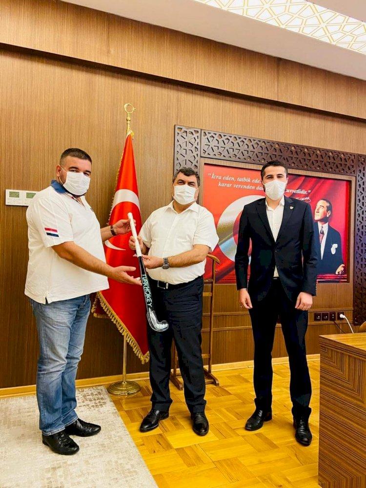 NBSK'den Kaymakam Şahin ve Başkan Sarı'ya ziyaret
