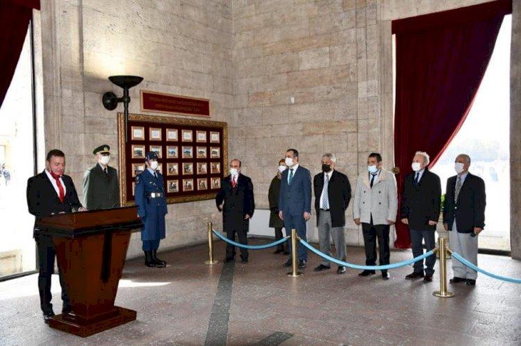 Ankara'daki Gaziantepliler Ata'nın huzurunda