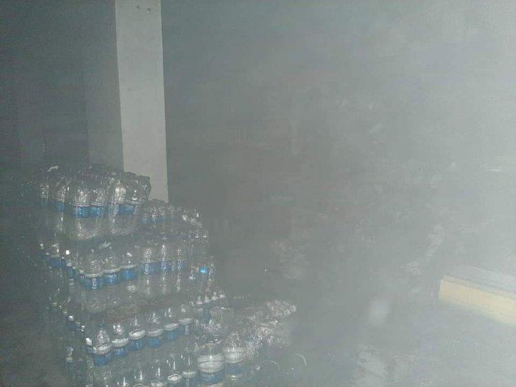 Nizip'te market yangını