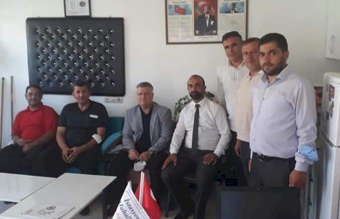 MHP Nizip İlçe Başkanı'ndan, muhtarlar derneği ziyareti