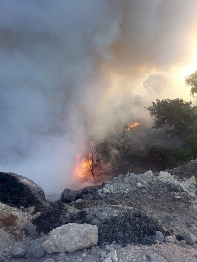Nizip'te yangın