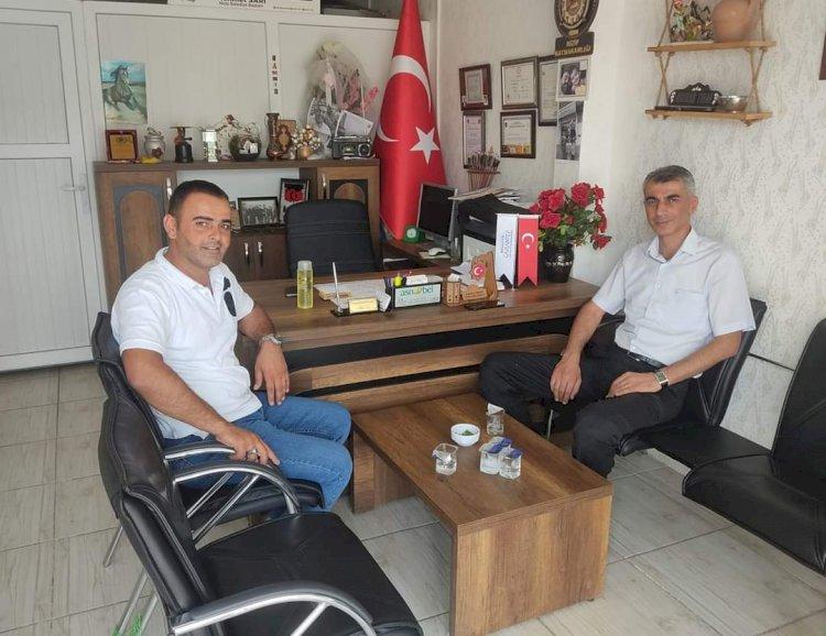 Emniyet Müdürü Yaman'dan, Muhtar Turan'a veda ziyareti