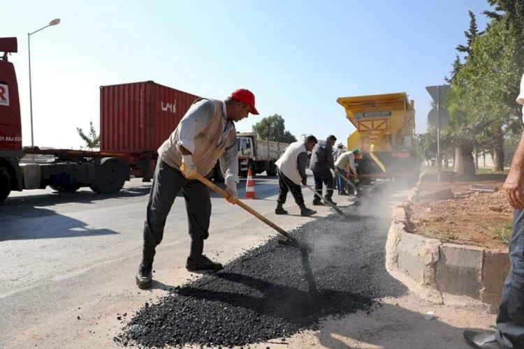 Sanayi Sitesi'nde asfalt çalışması