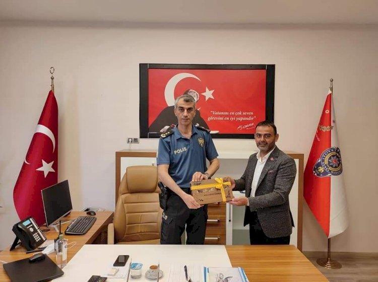 Muhtar Turan'dan Emniyet Müdürü Yaman'a Ziyaret