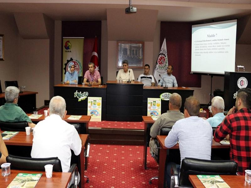 Zeytinyağı Sektörü Nizip Ticaret Odası nda Toplandı