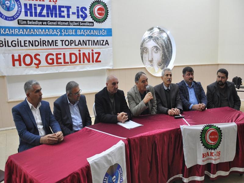 HİZMET İŞ SENDİKASI BÖLGE TOPLANTISI NİZİP TE YAPILDI
